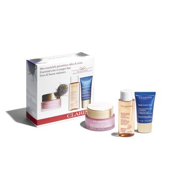 Essential care to target fine lines & boost radiance.