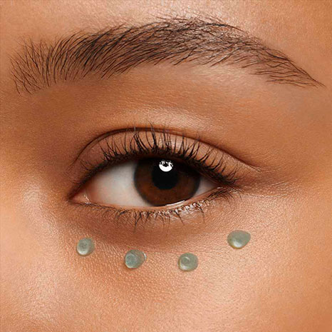 Eye contour gel texture