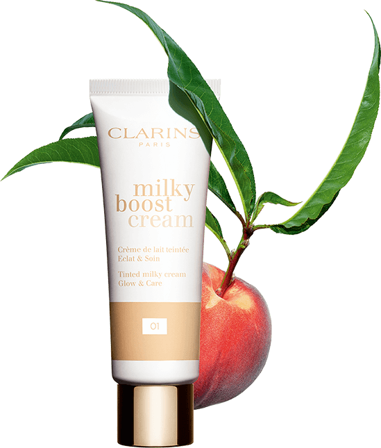 Milky Boost Cream with peach packshot