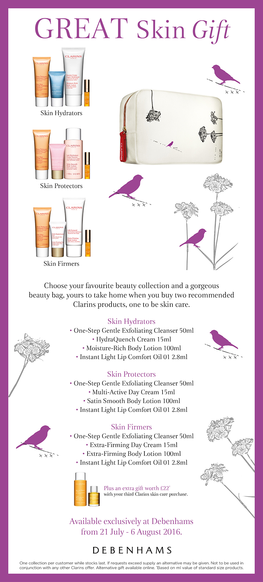 Debenhams Great Skin Gift Clarins